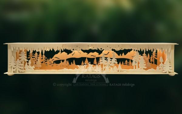 Raumleuchte Gebirge, Deko, Weihnachten, echt Erzgebirge