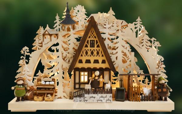 Schwibbogen Kaeserei, Deko, Weihnachten, echt Erzgebirge