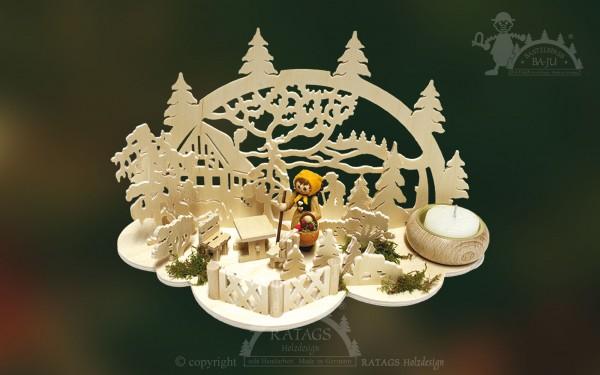 Tischschmuck Beerenfrau, Deko Weihnachten, echt Erzgebirge