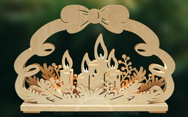 Schwibbogen kl., Adventslichter, Weihnachten, Kerzen