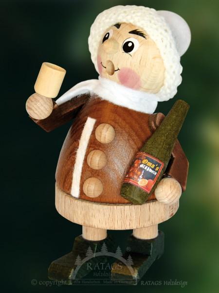 Raeuchermann Kind m. Glühwein Weihnachten, echt Erzgebirge