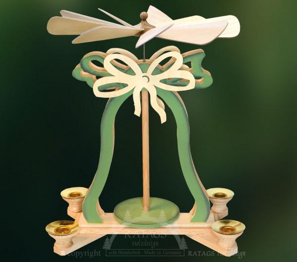 Glockenpyramide Kerzen, Weihnachten, echt Erzgebirge