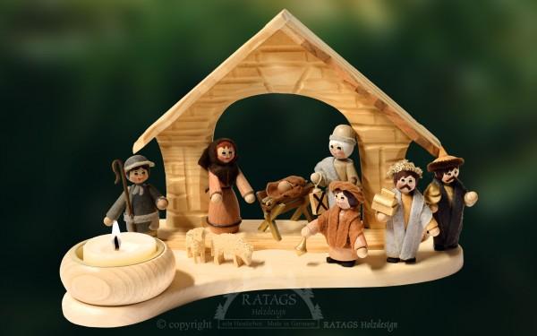 Tischschmuck Christi Geburt, Weihnachten, echt Erzgebirge