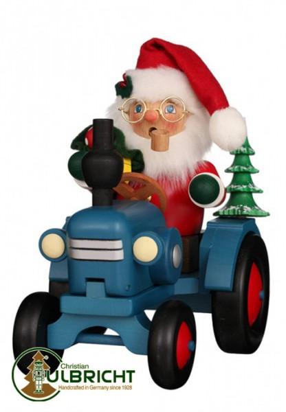 Räuchermann, Weihnachtsmann auf Traktor