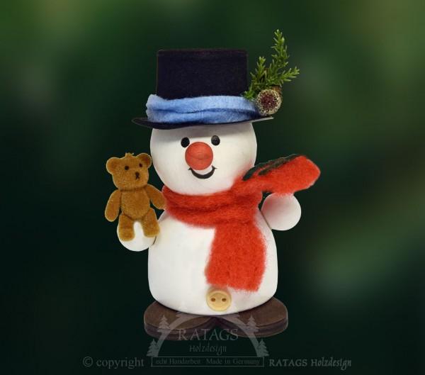 Moppel-Schneemann mit Teddy, Weihnacht, Geschenk