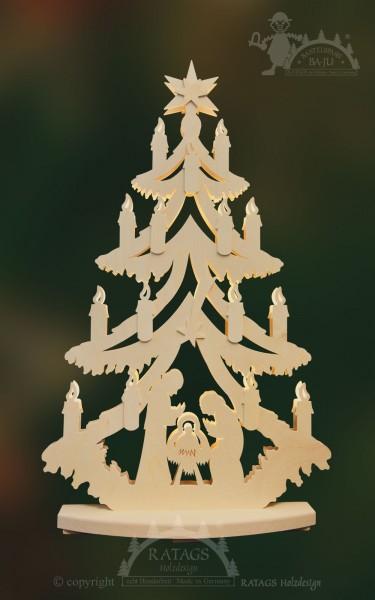 Tanne zum basteln Christi Geburt mittel, echt Erzgebirge