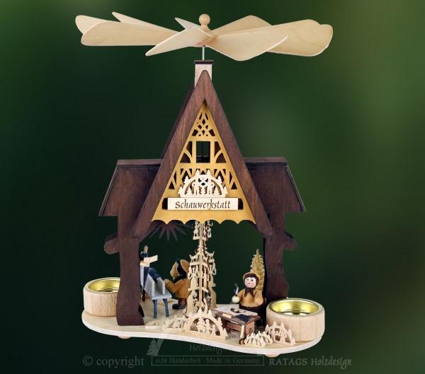Hauspyramide, Fachwerkhaus, Schauwerkstatt