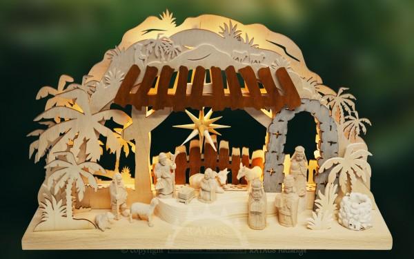 Schwibbogen Christi Geburt, Weihnachten, echt Erzgebirge