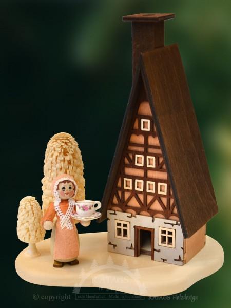 Raeucherhaus hei=DFe Schokolade Weihnachten, echt Erzgebirge