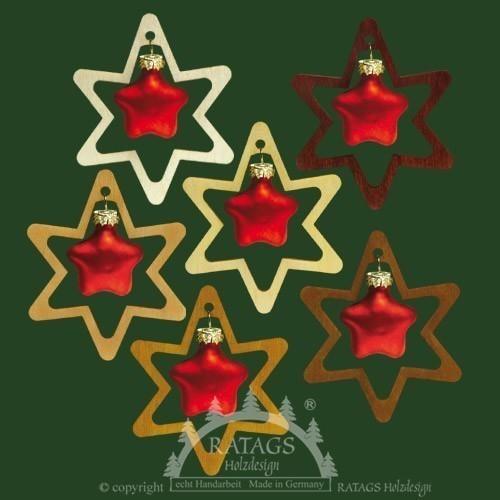 Weihnachten, Deko, Stern, echt Erzgebirge, rote Sterne, 3D