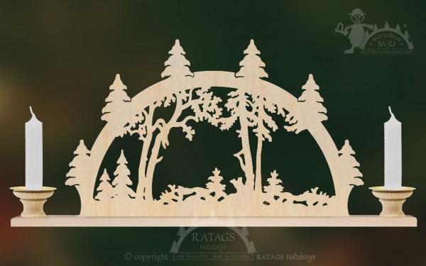 Schwibbogen Wald, Deko, Weihnachten, echt Erzgebirge