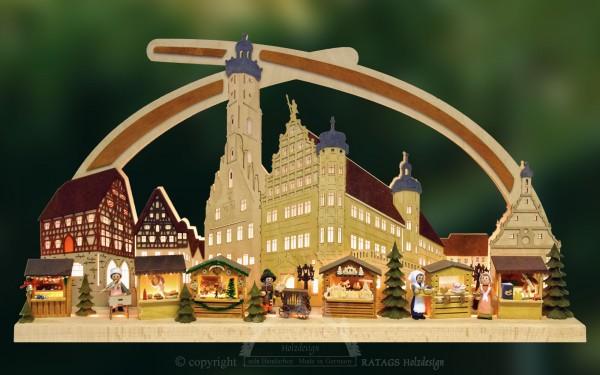 Massivholzbogen Rothenburg, Weihnachten, echt Erzgebirge