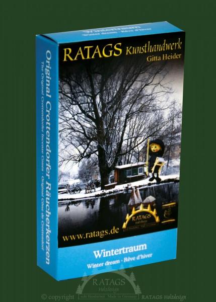 Raeucherkerzen, Wintertraum, Weihnachten, echt Erzgebirge