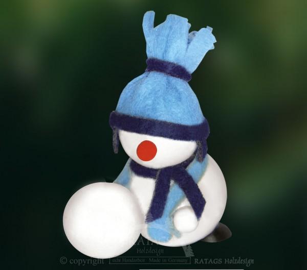 Molli, Junge Linie, Schneemann mit großem Schneeball