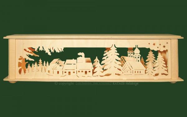 Raumleuchte Zwiebelkirche Deko Weihnachten, echt Erzgebirge