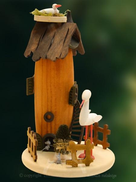 Raeucherhaus Storchennest, Weihnachten, echt Erzgebirge