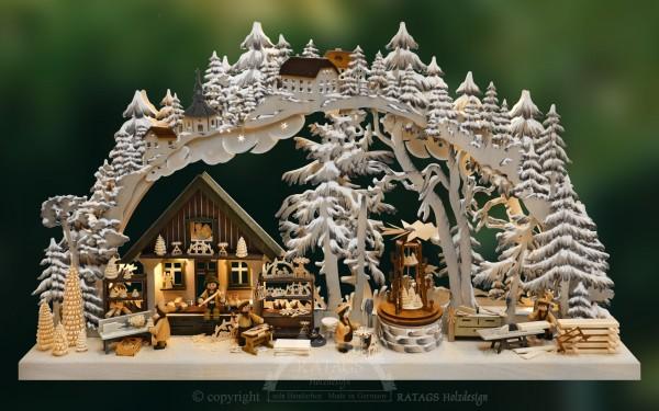 Schwibbogen Kunsthandwerk, Weihnachten, echt Erzgebirge
