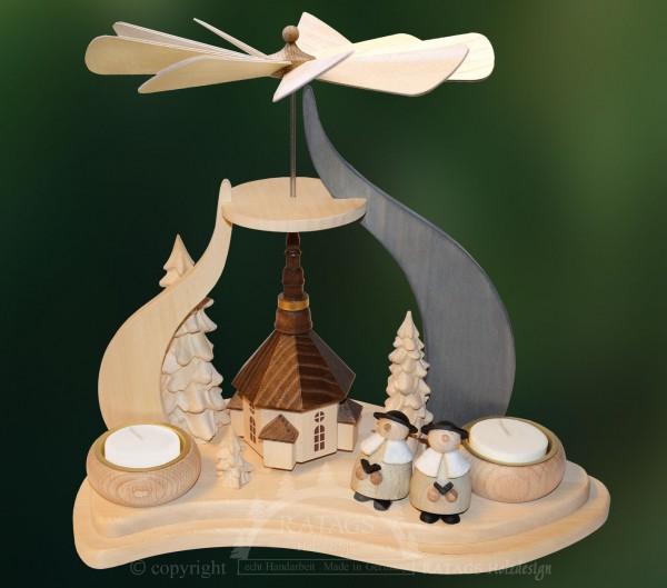 Massivholzpyramide Seiffen, Weihnachten, echt Erzgebirge