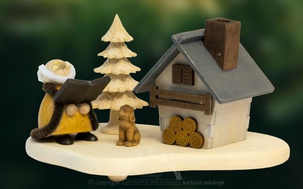 Raeucherhaus Opa, Weihnachten, echt Erzgebirge