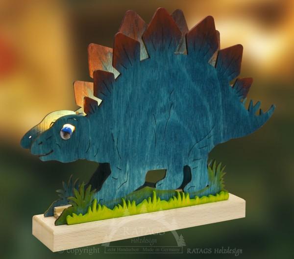 Romantikleuchte Tischlampe Dinosaurier Deko, echt Erzgebirge