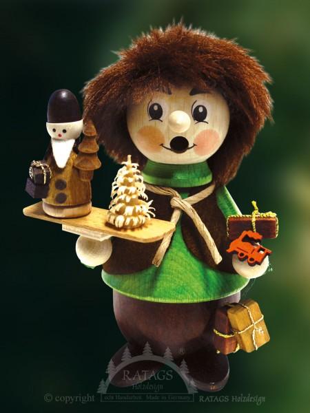 Raeuchermann mit Weihnachtsmann, Deko, echt Erzgebirge