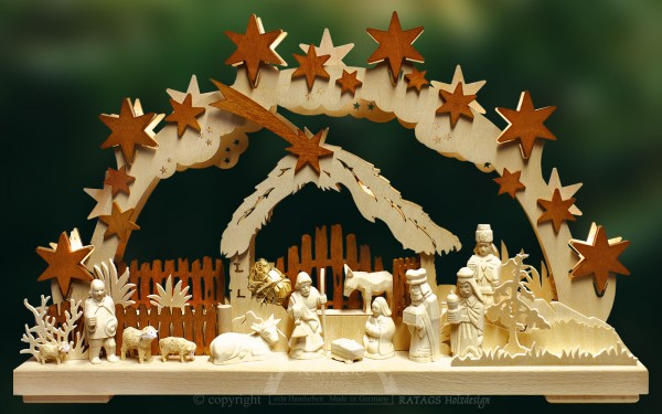 Schwibbogen Morgenland, Weihnachten, echt Erzgebirge