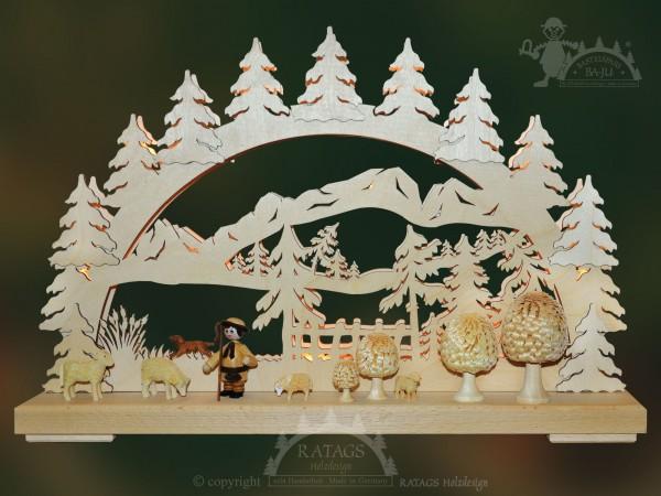 Schwibbogen Bergidylle, Deko, Weihnachten, echt Erzgebirge