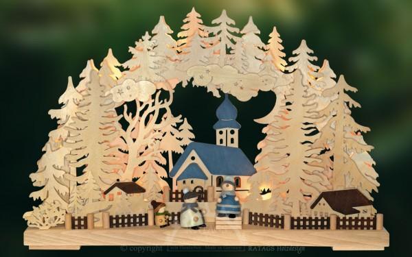 Schwibbogen Glockenlaeuten, Weihnachten, echt Erzgebirge