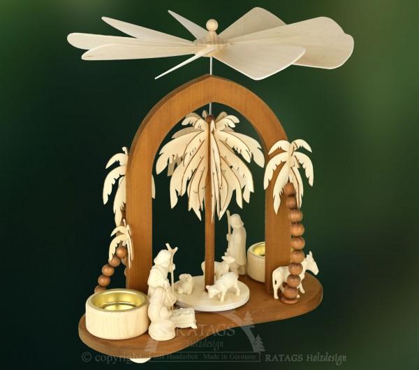 Sternbogenpyramide, Geburt Christi, Echt Erzgebirge