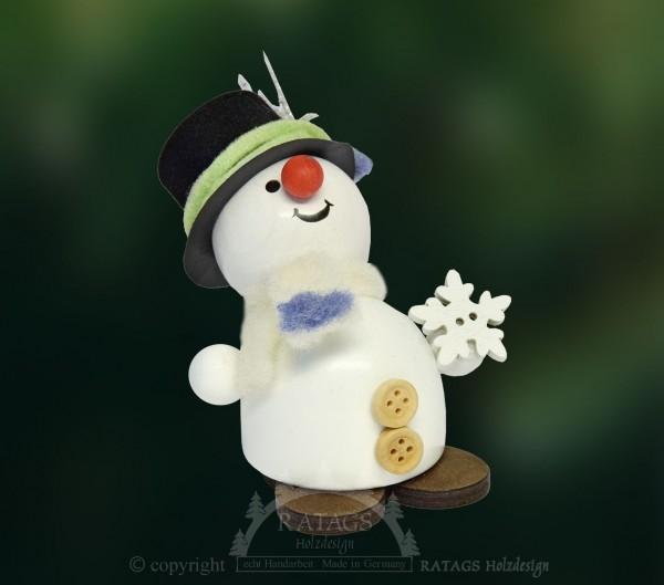 Moppel-Schneemann mit Schneekristall, Winter, Frost