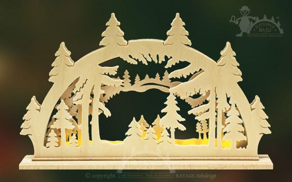Schwibbogen Waldlichtung Deko Weihnachten, echt Erzgebirge