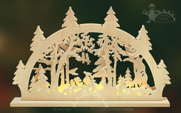 Schwibbogen im Wald, Deko, Weihnachten, echt Erzgebirge