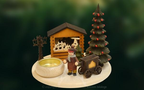 Tischschmuck Leierkastenmann, Weihnachten, echt Erzgebirge