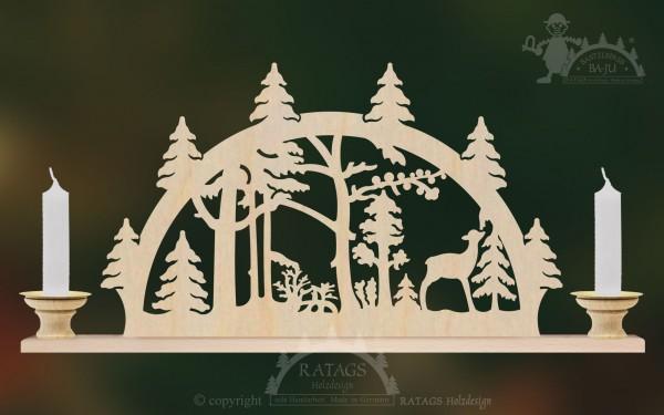 Schwibbogen Waldesruh, Deko, Weihnachten, echt Erzgebirge