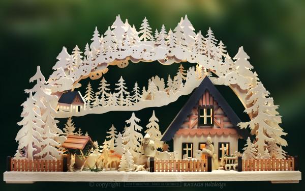 3D-Schwibbogen gr., Haus am Wald