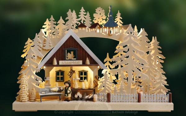 Schwibbogen Drechslerei, Weihnachten, echt Erzgebirge
