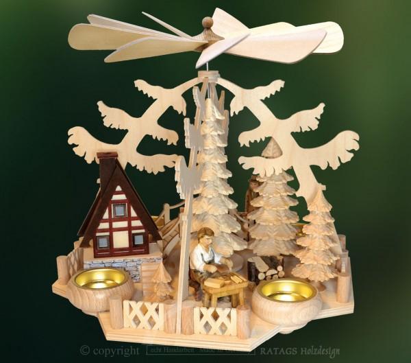Waldpyramide, Deko, Weihnachten, echt Erzgebirge