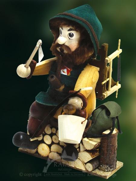 Raeuchermann Waldarbeiter, Weihnachten, echt Erzgebirge