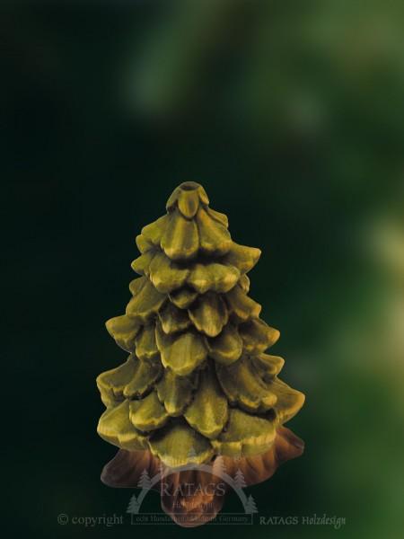 Raeucherhaus Baum, Deko, Weihnachten, echt Erzgebirge
