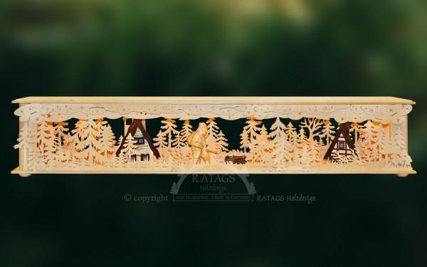Raumleuchte Blockhuette, Deko, Weihnachten, echt Erzgebirge