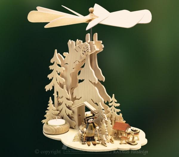 Tannenpyramide Foerster, Deko, Weihnachten, echt Erzgebirge
