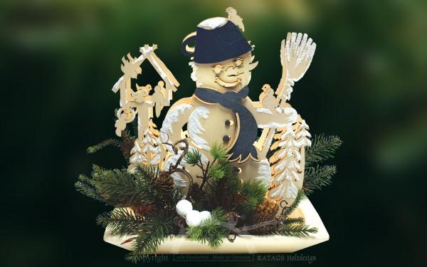 beleuchtete Dekoschale, Weihnachten, echt Erzgebirge