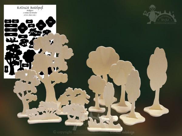Steckfigur, Bäume, Bastel, Deko, Spiel