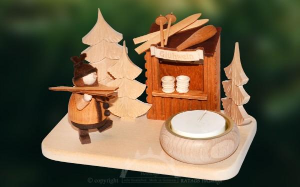 Lichterteller Gluehweinpause, Weihnachten, echt Erzgebirge