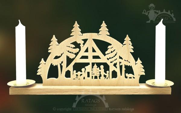Mini Schwibbogen Weihnachtsstube, Deko, echt Erzgebirge
