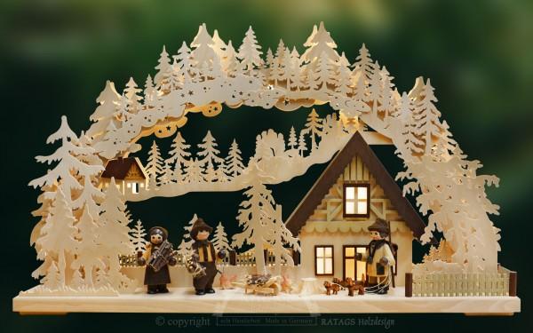 Schwibbogen Wildhüter, Deko, Weihnachten, echt Erzgebirge
