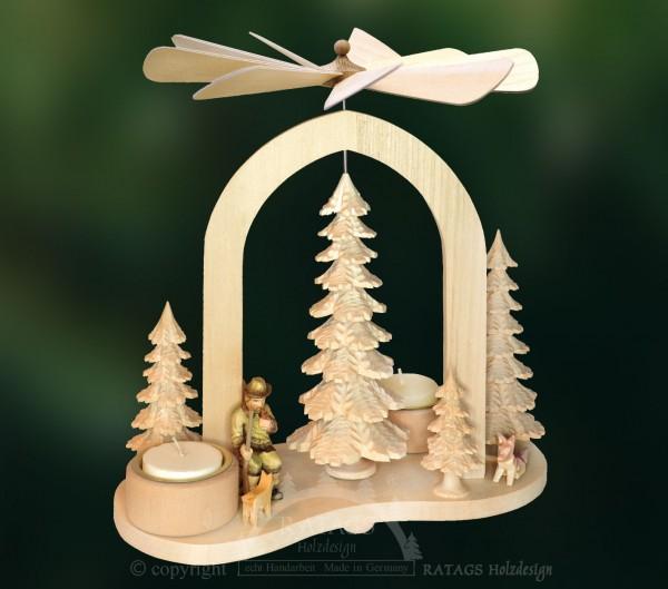 Bogenpyramide, Deko, Weihnachten, echt Erzgebirge
