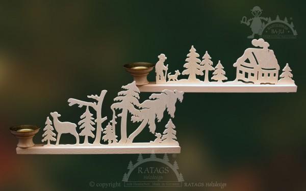 Tischschmuck Kerze, Deko, Weihnachten, echt Erzgebirge