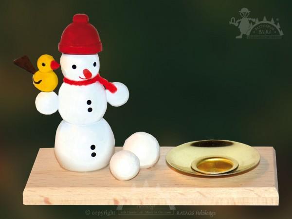 Tischschmuck Schneemann, Weihnachten, echt Erzgebirge