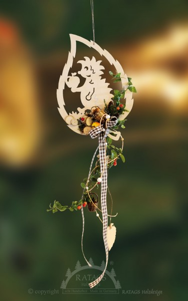 Fensterdekoration, natur, Floristik, echt Erzgebirge